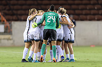 Houston, TX - Saturday July 08, 2017:  Lindsey Horan celebrates her goal with her teammates  during a regular season National Women's Soccer League (NWSL) match between the Houston Dash and the Portland Thorns FC at BBVA Compass Stadium.