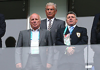 FA Chairman Greg Dyke and Director of football development Sir Trevor Brooking look on from the stands