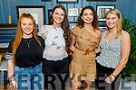 Rachel O'Regan, Rachel Godley, Maggie Nolan and Katie Nagle enjoying the evening in The Ashe Hotel on Saturday.