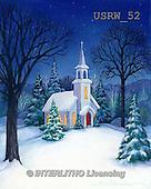 Randy, CHRISTMAS SYMBOLS, WEIHNACHTEN SYMBOLE, NAVIDAD SÍMBOLOS, paintings+++++Church-in-Snow,USRW52,#xx#