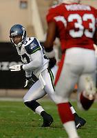 Nov. 6, 2005; Tempe, AZ, USA;Linebacker (57) Kevin Bentley of the Seattle Seahawks against the Arizona Cardinals at Sun Devil Stadium. Mandatory Credit: Mark J. Rebilas