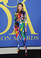 BROOKLYN, NY - JUNE 4: Gigi Hadid at the 2018 CFDA Fashion Awards at the Brooklyn Museum in New York City on June 4, 2018. <br /> CAP/MPI/JP<br /> &copy;JP/MPI/Capital Pictures