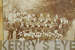 John O'Connell pictured with a photograph of the 1902 Mitchells Football team.