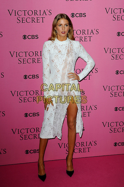 LONDON, ENGLAND - DECEMBER 2: Millie Mackintosh attends the pink carpet for Victoria's Secret Fashion Show 2014, Earls Court on December 2, 2014 in London, England.<br /> CAP/MAR<br /> &copy; Martin Harris/Capital Pictures