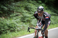 Marcel Kittel (DEU/Giant-Alpecin) playing around with his musette<br /> <br /> stage 4: Hotel Verviers - La Gileppe (187km)<br /> 29th Ster ZLM Tour 2015