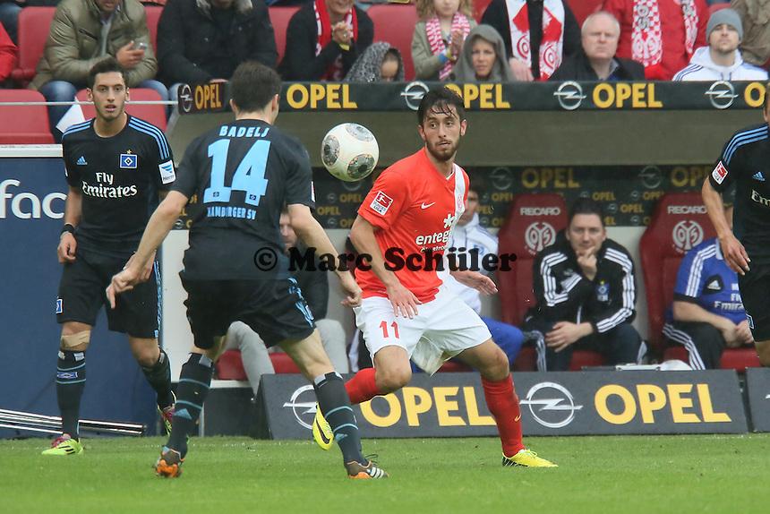 Milan Badej (HSV) gegen Yunus Malli (Mainz) - 1. FSV Mainz 05 vs. Hamburger SV, Coface Arena, 34. Spieltag
