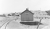Depot at Monero, NM looking west.<br /> D&amp;RGW  Monero, NM  Taken by Howe, Dan - 7/17/1947