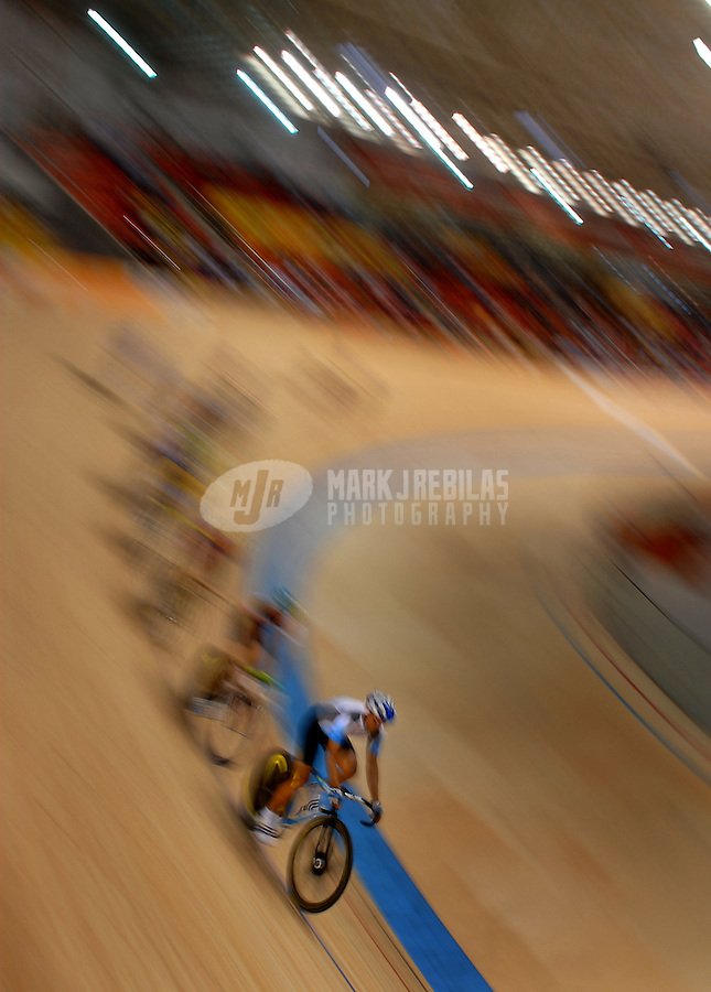 Jul 17, 2007; Rio de Janeiro, Brazil; Riders practice for the mens sprint in the Pan American Games at the Velodromo in Rio de Janeiro. Mandatory Credit: Mark J. Rebilas-US PRESSWIRE Copyright © 2007 Mark J. Rebilas