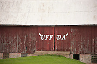 A barn in Wisconsin's Driftless Area reflects the region's Scandinavian heritage.