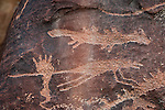 Rochester site rock art panel in the San Rafael Swell