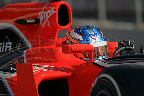 22.02.2012 Barcelona Spain. Formula One testing, day 2.Charles Pic in the Marussia