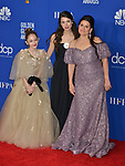 Shannon McIntosh, Margaret Qualley, Julia Butters, 149 poses in the press room with awards at the 77th Annual Golden Globe Awards at The Beverly Hilton Hotel on January 05, 2020 in Beverly Hills, California.