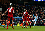 Manchester City's Bernardo Silva hits the post during the Champions League Quarter Final 2nd Leg match at the Etihad Stadium, Manchester. Picture date: 10th April 2018. Picture credit should read: David Klein/Sportimage