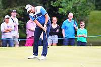 David Howell putts on the 4th green during the BMW PGA Golf Championship at Wentworth Golf Course, Wentworth Drive, Virginia Water, England on 27 May 2017. Photo by Steve McCarthy/PRiME Media Images.