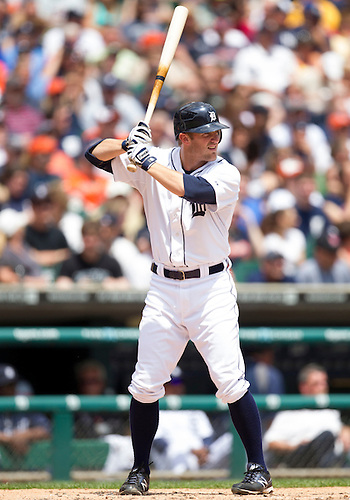 June 03, 2012:  Detroit Tigers second baseman Danny Worth (29) at bat during MLB game action between the New York Yankees and the Detroit Tigers at Comerica Park in Detroit, Michigan.  The Yankees defeated the Tigers 5-1.