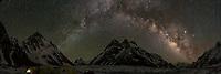 K2 Glacier Milky Way. Karakoram range, Pakistan