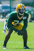 Green Bay Packers cornerback Quinten Rollins (24) during a training camp practice on August 7, 2017 at Ray Nitschke Field in Green Bay, Wisconsin.  (Brad Krause/Krause Sports Photography)