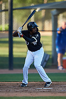 AZL White Sox Josue Guerrero (27) at bat during an Arizona League game against the AZL Royals at Camelback Ranch on June 19, 2019 in Glendale, Arizona. AZL White Sox defeated AZL Royals 4-2. (Zachary Lucy/Four Seam Images)