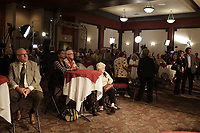 September 4, 2012 - Sherbrooke (Qc) CANADA - Liberal suppporters wait in a near empty room for  Quebec Premier and Liberal leader Jean Charest speech.<br /> <br /> He lost the Provincial election to Parti Quebecois (PQ) Leader Pauline Marois.<br /> <br /> Photo (c) 2012 by Raffi Kirdi