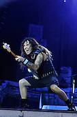 IRON MAIDEN - Steve Harris - performing live on Day Three on the Lemmy Stage at the Download Festival at Donington Park UK - 12 Jun 2016.  Photo credit: Zaine Lewis/IconicPix