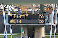 General view of Castle Bar, home of Ealing Trailfinders, showing the scoreboard, ahead of the Greene King IPA Championship match between Ealing Trailfinders and London Welsh RFC at Castle Bar , West Ealing , England  on 26 November 2016. Photo by David Horn / PRiME Media Images