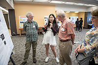 "Nancy Zhou presents, ""Justice in the Twilight Zone""<br /> Mentor: Saul Traiger, Philosophy<br /> Occidental College's Undergraduate Research Center hosts their annual Summer Undergraduate Research Conference on July 31, 2019. Student researchers presented their work as either oral or poster presentations at this final conference. The program lasts 10 weeks and involves independent research in all departments.<br /> (Photo by Marc Campos, Occidental College Photographer)"