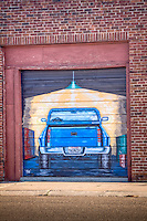 Mural in downtown Mclean texas on Route 66.