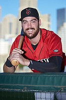 Indianapolis Indians first baseman Will Craig (25) poses for a photo prior to the game against the Charlotte Knights at BB&T BallPark on April 27, 2019 in Charlotte, North Carolina. The Indians defeated the Knights 8-4. (Brian Westerholt/Four Seam Images)