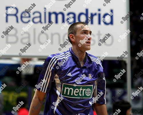 2009-03-31 / Basketbal / Euroleague / Real Madrid - Olympiacos Piraeus / Axel Hervelle (Real Madrid)..Foto: Maarten Straetemans (SMB)