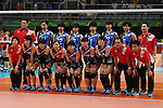 Japan Women's team group line-up (JPN), <br /> AUGUST 6, 2016 - Volleyball : <br /> Women's Preliminary Pool A<br /> between Japan 1-3 South Korea<br /> at Maracanazinho <br /> during the Rio 2016 Olympic Games in Rio de Janeiro, Brazil. <br /> (Photo by Koji Aoki/AFLO SPORT)