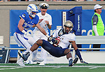 October 1, 2016 - Colorado Springs, Colorado, U.S. -  Navy wide receiver, Jamir Tillman #4, brings down a pass during the NCAA Football game between the Naval Academy Midshipmen and the Air Force Academy Falcons, Falcon Stadium, U.S. Air Force Academy, Colorado Springs, Colorado.  Air Force defeats Navy 28-14 to remain undefeated.