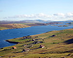 Weisdale Voe from Sound, Shetland Islands, Scotland