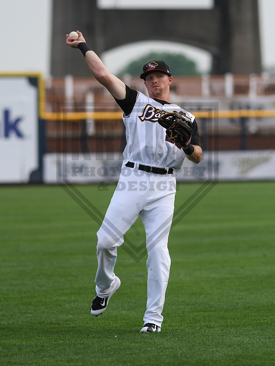 DAVENPORT - May 2015: Quad Cities River Bandits outfielder Derek Fisher (22) during a Midwest League game against the Wisconsin Timber Rattlers on May 8th, 2015 at Modern Woodmen Park in Davenport, Iowa.  Quad Cities defeated Wisconsin 11-6.  (Brad Krause/Krause Sports Photography)