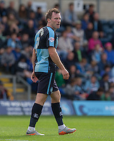 during the Sky Bet League 2 match between Wycombe Wanderers and Hartlepool United at Adams Park, High Wycombe, England on 5 September 2015. Photo by Andy Rowland.