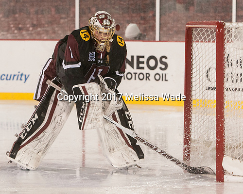 Brianna Laing (Harvard - 1) - The Boston College Eagles defeated the Harvard University Crimson 3-1 on Tuesday, January 10, 2017, at Fenway Park in Boston, Massachusetts.The Boston College Eagles defeated the Harvard University Crimson 3-1 on Tuesday, January 10, 2017, at Fenway Park.