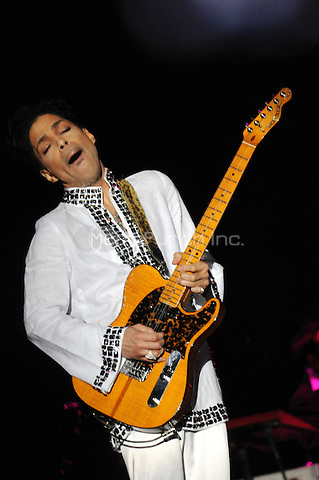 Prince performing live at the 2008 Coachella music festival in Indio, California on April 26, 2008. Credit: Atlas/MediaPunch