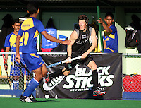 NZ's Simon Childs during the international hockey match between the New Zealand Black Sticks and Malaysia at Fitzherbert Park, Palmerston North, New Zealand on Sunday, 9 August 2009. Photo: Dave Lintott / lintottphoto.co.nz