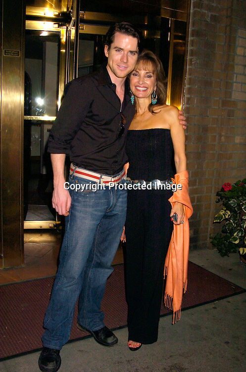 Christian Campbell and Susan Lucci ..at a Party for Susan Lucci to announce her Star on the Hollywood Walk of Fame on September 23, 2004 ..at San Domenico Restaurant . ..Photo by Robin Platzer, Twin Images