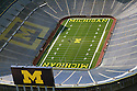 Aerial view of the Michigan stadium in Ann Arbor.