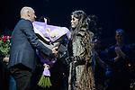 Premiere representation du spectacle Cats avec Chimene Badi dans le role de Grizabella au Theatre Mogador a Paris
