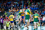 Eddie Horan Kerry in action against Dermot Coughlan Clare in the Munster Minor Football Final at Fitzgerald Stadium on Sunday.