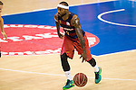 FC Barcelona Lassa's Tyrese Rice during the match of Endesa ACB League between Fuenlabrada Montakit and FC Barcelona Lassa at Fernando Martin Stadium in fuelnabrada,  Madrid, Spain. October 30, 2016. (ALTERPHOTOS/Rodrigo Jimenez)
