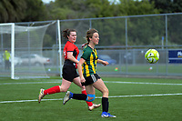 Action from the 2019 Grant Jarvis NZ Secondary Schools Girls' 1st XI tournament match between Sacred Heart College (Lower Hutt) and Wanganui High School at Memorial Park in Petone, New Zealand on Wednesday, 4 September 2018. Photo: Dave Lintott / lintottphoto.co.nz