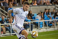 SAN JOSE,  - SEPTEMBER 1: Kyle Smith #24 of the Orlando City SCChris Mueller #9 of the Orlando City SC during a game between Orlando City SC and San Jose Earthquakes at Avaya Stadium on September 1, 2019 in San Jose, .