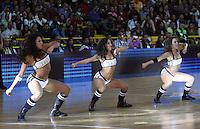 BOGOTA -COLOMBIA, 21 -SEPTIEMBRE-2014. Porristas de Miami Heat Dancer durante el partido de basquerbol por La Copa Euroamericana entre los equipos Real Madrid y Guerreros de Bogota  jugado en el coliseo El Salitre . / Miami Heat Dancer Cheerleaders during the match basquerbol by The euroamericana Cup between the teams Real Madrid and Guerreros de  Bogota  played in the Coliseum El Salitre. Photo: VizzorImage / Felipe Caicedo / Staff