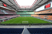 The emty stadium. No spectators allowed to attend the match due health measures for Coronavirus Covid19 emergency <br /> Milano 08/03/2020 Stadio Giuseppe Meazza <br /> Football Serie A 2019/2020 <br /> AC Milan - Genoa CFC <br /> Photo Insidefoto