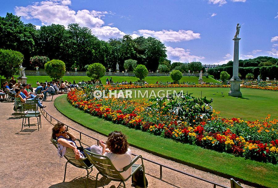Jardim de Luxemburgo em Paris, França. 1993. Foto de Dudu Cavalcanti.