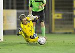 2018-08-11 / voetbal / seizoen 2018 - 2019 / Crocky Cup / ASV Geel - Tilleur / Keeper Justin Dautzenberg (Geel) pakt een strafschop waardoor ASV Geel zich kwalificeert voor de volgende ronde.