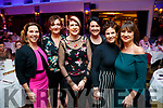 Una O'Connor, Helen McGowan, Kerrie Davoren, Noelle Kingston, Conagh Mullen and Jane Lynch, celebrating Women's Christmas at Ballygarry House Hotel and Spa, Tralee, on Saturday night last.