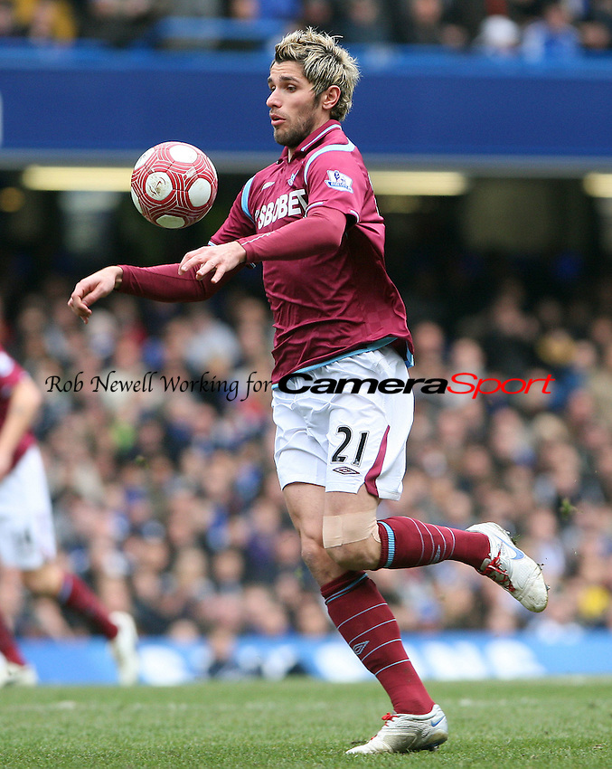 Valon Behrami of West Ham - Chelsea vs West Ham United, Barclays Premier League at Stamford Bridge, Chelsea - 13/03/10 - MANDATORY CREDIT: Rob Newell/TGSPHOTO - Self billing applies where appropriate - 0845 094 6026 - contact@tgsphoto.co.uk - NO UNPAID USE.